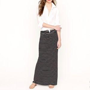 J. Crew Jersey Striped Maxiskirt